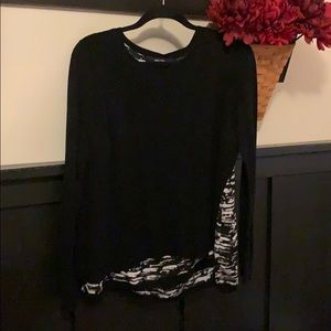 Simply Vera Vera Wang XL black/white tank sweater